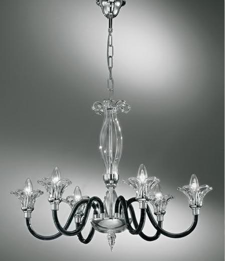 Illuminazione bagno classica: lampadario, cristalli