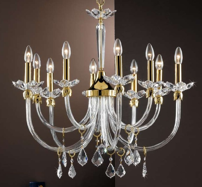 illuminazione camera da letto classica: lampadario, lampade