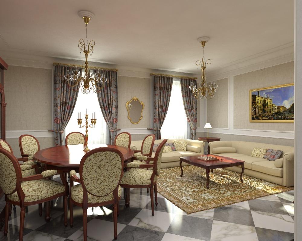 illuminazione soggiorno classico: lampadari, lampade