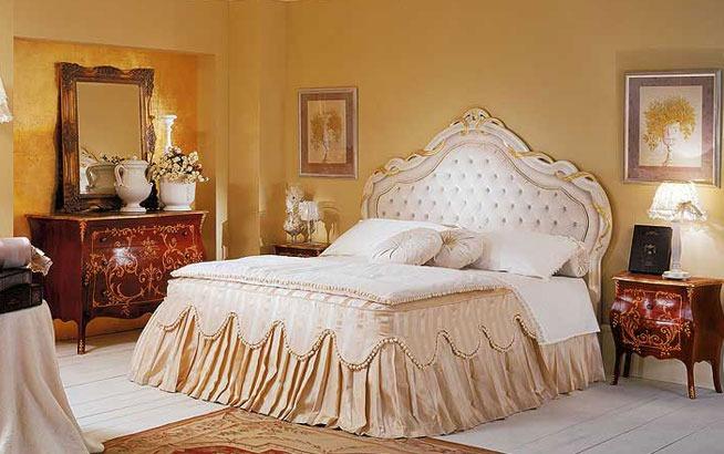 Letti classici rivestimento cotone seta pelle - Tende da camera da letto classiche ...
