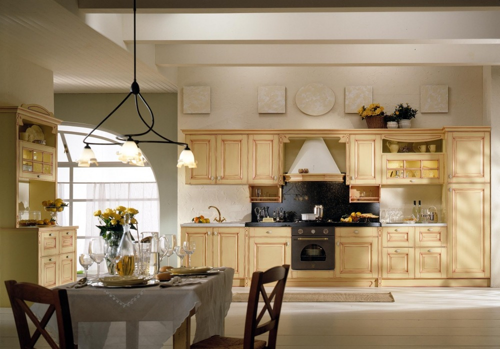 mobili cucina classici: legno, bianco, avorio, champagne