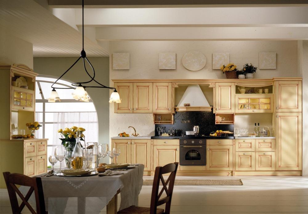 Mobili cucina classici legno bianco avorio champagne - Mobili da cucina in offerta ...