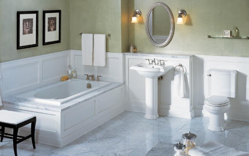 Pavimenti bagno classici marmo mosaico