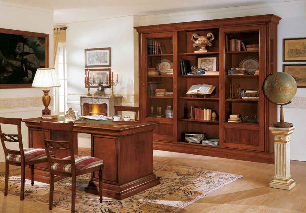 Ufficio classico mobili illuminazione pavimenti for Arredamento da studio